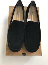 UGG Men's Alder Moccasins Slipper, Black-size 11