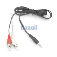 3.5mm Mono In Out Stereophonic to RCA R/L Y-Cable Audio M/M Cable 4 Speaker HM