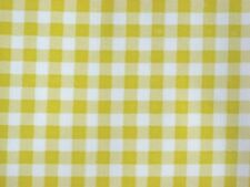 YELLOW GINGHAM CHECK KITCHEN PATIO DINE BBQ OILCLOTH VINYL TABLECLOTH 48x72 NEW