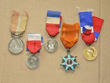 Lot de 5 Médaille Travail Social Commerce   Années 30/70  France