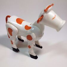 Vintage Cow Fisher Price Little People Brown White Textured Legs Tail Poseable