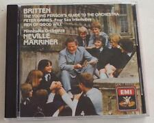 Britten: Young Person's Guide Four Sea Neville Marriner CD JAPAN Pressing