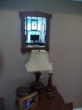"Arts & Crafts Wall Hanging Mirror 12"" X 16"" mirror with 1"" Bevel Mission Style"