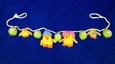 KNITTING PATTERN - Cute Easter Egg and Chicks garland novelty Decoration