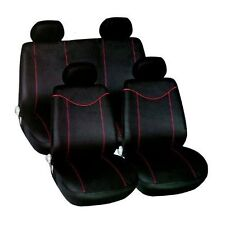 UNIVERSAL BLACK / RED  CAR SEAT COVERS SET AIR BAG FRIENDLY FULL SET FORD FIESTA
