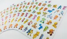 180x Cool Dinosaur Robot Cartoon Childrens Kids Stickers fun shiny pvc play lot