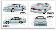 New! Collectable VL SS Group A Holden Commodore Walkinshaw Large Sticker Set