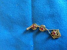 Vintage 10K Yellow Gold  Ruby Lavalier Pedant