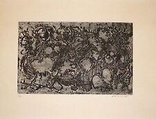 Roger-Edgar Gillet gravure 1963 signée abstraction expressionnisme Prix Fénéon
