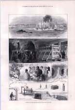1876 grandes explosiones soplar hasta el infierno puerta rocas East River en Nueva York