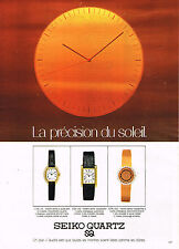 PUBLICITE ADVERTISING 114  1979  SEIKO QUARTZ PRECISION SOLEIL montres