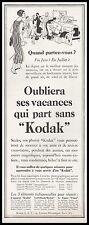 Publicité KODAK  Photo appareil photo vintage print ad  1926 - 5h