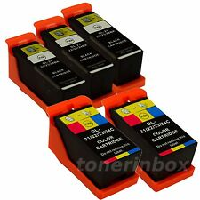 5 Pack New Ink Cartridges for Dell Series 21 22 23 24 V715w V515w P513w P713w