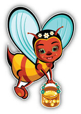 Funny Bee Girl Cartoon Car Bumper Sticker Decal 4'' x 5''