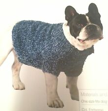 Dog Coat Easy Kniit 12 to 15 kg  Knitting Pattern