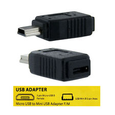USB 2.0 Female Micro USB B to Male 5 Pin Mini B Cable Adapter Converter