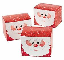 Santa Gift Box Red Holiday Christmas 1 One Small 6x4 Cardboard Wrap Glossy Xmas