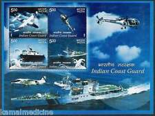 INDIA 2008 MNH SS, INDIAN COAST GUARD, Fighting Ships, Helicopter, Planes  - S08