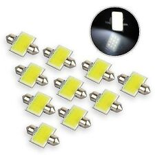 10x 31mm COB 3W 12Chips SMD LED 12V Dome Festoon Interior Panel Bulb White Light