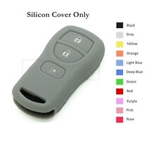 Silicone Skin Jacket Cover Holder fit for Nissan Remote Key Case Shell 3 BTN GY