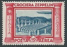 1933 REGNO POSTA AEREA ZEPPELIN 10 LIRE MNH ** - Y182-2