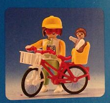 Playmobil Vintage Woman, Bicycle, Infant Carrier, Infant - Collector - NEW