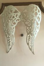 ANGEL WINGS Metal Filigree Cut-out Wall Art Sculpture Country Decor New