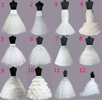 WEDDING PETTICOAT BRIDAL DRESS PROM  HOOPS UNDERSKIRT CRINOLINE REGULAR WAIST