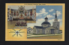 Sitka Alaska AK c1940s Old Wooden St Michael's Cathedral, Chruch Interior, 2 Pix