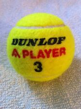 "Bright Yellow Tennis Ball by DUNLOP, 2 3/8"" in Diameter, in GREAT CONDITION"