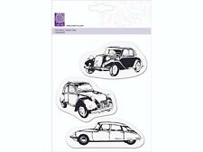 3 Acrylstempel Auto Autos Oldtimer Clear-Stamps Silikon Stempel cArt-Us