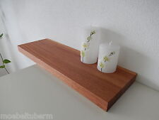 Wandboard Mahagoni Massiv Holz Board Regal Steckboard Regalbrett NEU auf Maß !