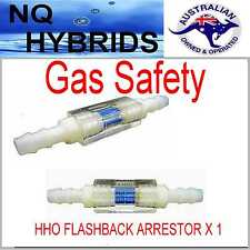 HHO FLASH BACK  SAFETY FIRST HYDROGEN GENERATOR   GAS SAFETY. FLASHBACK ARRESTOR
