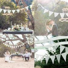 11 Flags Lace Vintage 3.2m Long Party Wedding Pennant Bunting Banner Decor Flag
