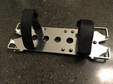 Aluminum Silver Battery Mounting Plate w/adjustable strap Axial SCX10 Crawler