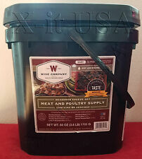 WISE Food ~ 60 Serving Survival Freeze Dried Meals MEAT Bucket + FREE RICE