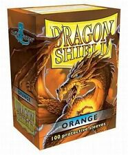 100 PROTECTIVE SLEEVES Orange Arancione MTG MAGIC Dragon Shield