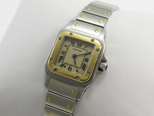 CARTIER SANTOS 18K GOLD & STEEL LADIES WATCH