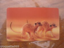2014 Carte animée CORA Collector Animaux Animals SURICATE 38/44