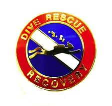 Dive Rescue Recovery Lapel Pin Gold Scuba Diver Diving Team 67G1 Metal Back New