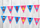 Disney Princess and Marvel Superhero Birthday Banner, Bunting, Decoration, Party