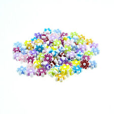 Lot 20 Perle Fleur Acrylique 8mm Couleur Mixte Creation Bijoux, Bracelet Collier
