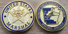 US Marshals Service - MUSEUM challenge coin - GOLD BADGE version