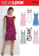 NEW LOOK SEWING PATTERN MISSES' DRESS DRESSES SIZE 6 - 16  6749