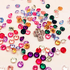 100PCS Mix Floating Charm Heart For Stainless Gems Living Memory Locket PPB52