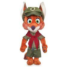"DISNEY STORE ZOOTOPIA NICK WILDE IN JUNIOR RANGER UNIFORM NWT PLUSH FOX 9"" H"