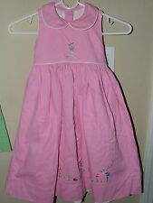 Strasburg 4T Pink Ladybug Sun Dress Flowers Bumble Bee Spring Boutique Lined