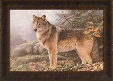 NORTHERN PASSAGE by Jerry Gadamus 20x28 FRAMED PRINT PICTURE Wolf Wildlife