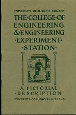 COLLEGE OF ENGINEERING EXPERIMENT STATION Pictorial Description (1919) Illinois