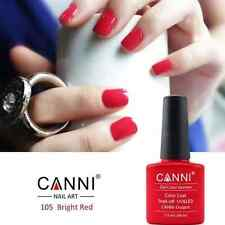 105 BRIGHT RED UV LED SOAK OFF GEL POLISH COAT COLORS NAIL ART UK SELLER